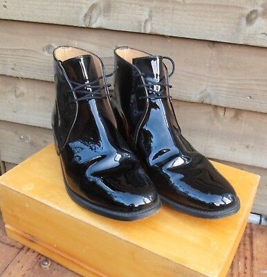 British Army - Mess Dress - Patent Leather George Boots - Sanders - Size 8.5