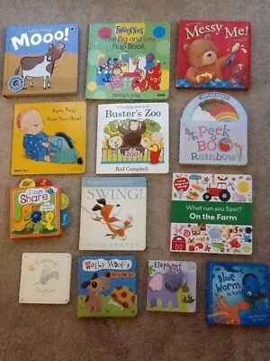 Large Board Book Bundle Baby / Toddler - Sounds, Finger Puppets, Touchy Feely