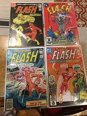Lot of 4 Bronze Age Flash comics all 9.0 or better