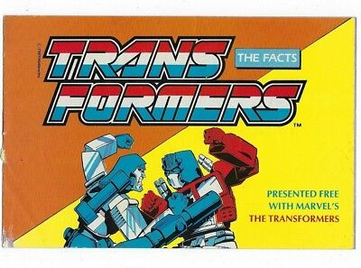 presented free with Marvel's The Transformers issue 200 - The Facts booklet 1989