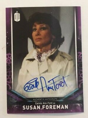 2018 Topps Doctor Who Signature Series Carole Ann Ford - Susan Foreman Auto Card