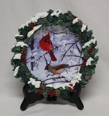 Crimson Carolers 2nd Issue Boughs of Beauty Marc Hanson Hanging Collector Plate