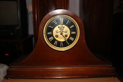 8 Day French Mantle Clock A D Mougin With Visible Brocot Escapement.