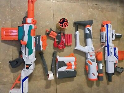 NERF GUN LOT (4 Guns Plus Accessories)