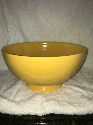 Vintage Fiestaware Footed Yellow Salad Comport  Compote