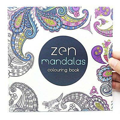 1 Pages Flower Pcs 24 Mandalas Coloring Book Children Adult Relieve Stress New