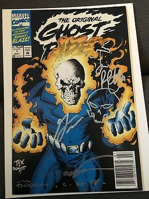 Ghost Rider Issue 1 Signed Gary Friedrich Mark Texeira Jimmy Palmiotti