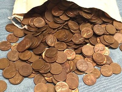 One Roll(50)  Au/Unc Red&  Brown Lincoln Wheat Cents-Mixed Dates-Clearance