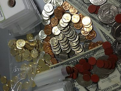 Estate Lot Old All Gem Bu Red Lincolns&silver War Nickels&dimes++