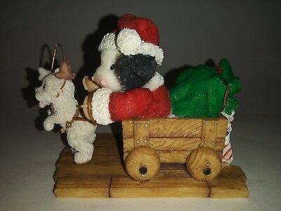 Mary's Moo Moos 548723 Making A Special Deerlivery Dressed As Santa In cart