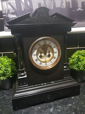 1890 Victorian Large Slate Mantle clock , 20 KG , Very heavy , see photos