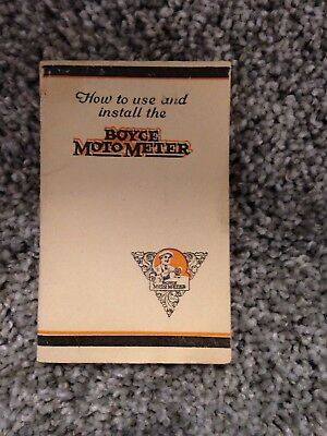 Original 1920's Boyce Motometer Use and Installation Pocket Size Booklet 20pgs