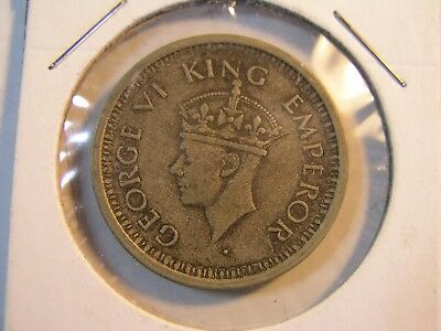 1945 India one Rupee George VI King Emperor Bombay Mint 50% Silver Lot 34