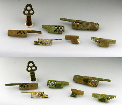 *SC* LARGE LOT OF ANCIENT ROMAN KEY DOOR-LOCK BOLTS, 1st.-3rd. Century AD.