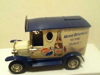 Vintage Pepsi-Cola 1993 Golden Wheel Die Cast Gift Truck Bank Unlimited Edition