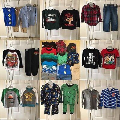 Boys Size 3t Clothing Lot #1 Fall Winter 22 Pieces (Carter's, Disney Etc.)