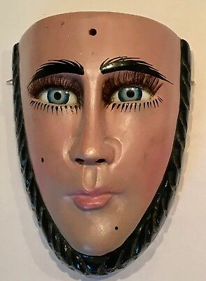 Mexican Hand Carved Miniature Para Chico Mask  Artist signed - Felix Alberto
