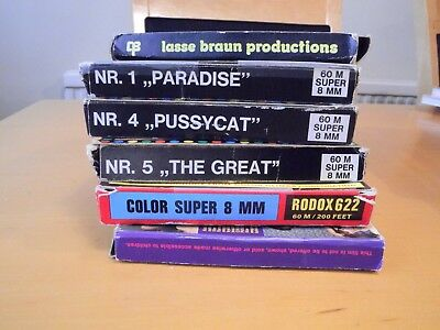 Vintage 8mm Super 8 Adult Glamour Films , six in all, by various makers