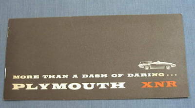 Plymouth XNR Concept Sports Car Booklet 1960