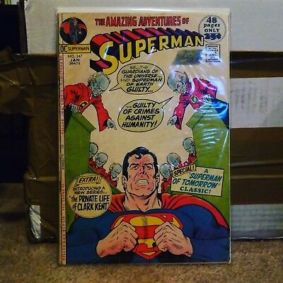 Superman (1939 series) #247 low grade DC comics silver age 15 cent