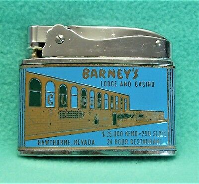 Barney's El Capitan Casino Lodge Hawthorne Nevada vintage cigarette lighter