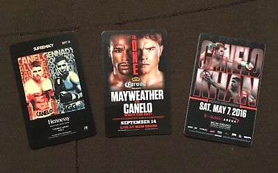 Lot of 3 Canelo Alvarez Las Vegas Hotel Room key cards Mayweather Khan GGG