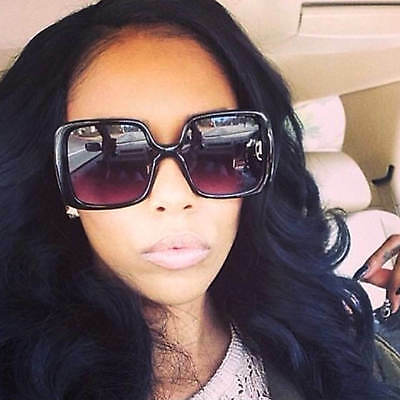 Large Retro Oversized Women Fashion Sunglasses Square Frame Gradient Lens