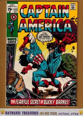 Captain America #132 (9.2) NM- 1970 Bronze Age By Stan Lee