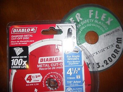 Diablo 4.5 inch Diamond Wheel Metal Cutting Cut Off Tool Disc Angle Grinder PLUS