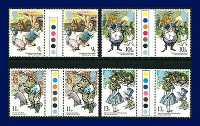 1979 SG1091-1094 9p-13p Year of the Child Traffic Light Gutter Pairs MNH arsl