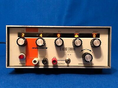 Vintage Analogic AN3100 DC Voltage Standard, Analog Selectors, Good