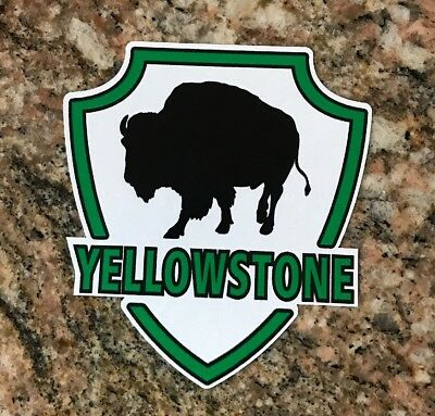 Yellowstone Sticker - Wyoming National Park Camping Fishing Volcano Geyser