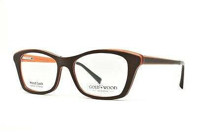 02c0ccb66ed9 Gold and Wood ELECTRA 02 Eyeglasses 52-16-140 Brand New Authentic - retail