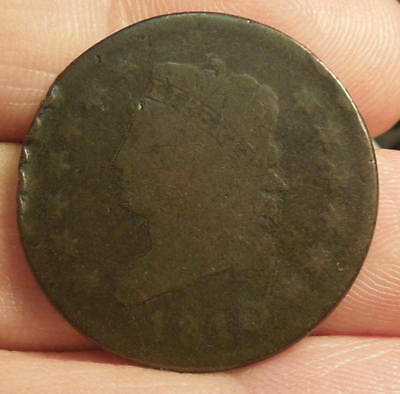 1810 Classic Head Large Cent - Nice Color & Detail  Rim Dings, Still Nice Coin!!