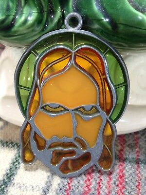 Jesus Suncatcher Sun Catcher Stained Glass-style window hanging