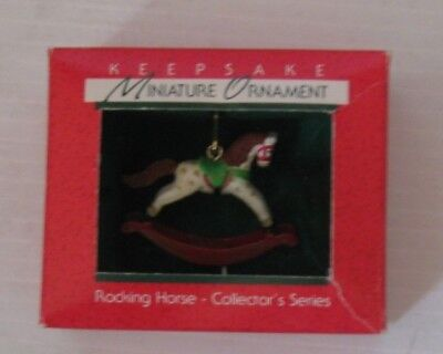 HALLMARK - Miniature Ornament - Rocking Horse 1988 FIRST in Series - USED