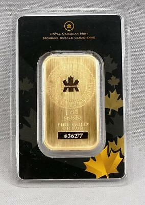 Royal Canadian Mint 1 Ounce Gold Bar .9999 Fine In Assay! GUARANTEED AUTHENTIC!