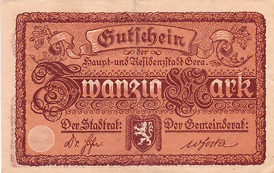 Currency Selection, Germany State 20 Marks