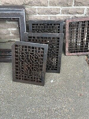Vintage Heat Register Cast Iron Wall Floor Grate Heat Vent