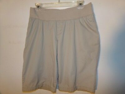 LIZ LANGE Maternity Women's Size Small Khaki Chino Bermuda Walking Shorts EUC