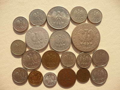 Lot of 20 Coins of Poland - Polish - old and new