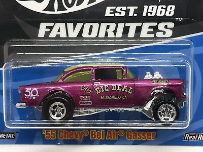 '55 Chevy Bel Air Gasser * 2018 Hot Wheels 50th Favorites Case B Real Riders Htf