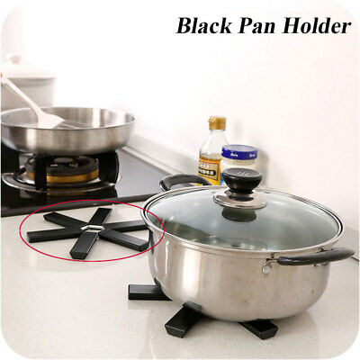 New Coaster Trivet Kitchen Pad Non-slip Black Foldable Heat Resistant Pan Mat