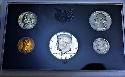 1969 S *5 coin* PROOF COINS 40% SILVER KENNEDY RAINBOW PENNY ORIGINAL PACKAGING