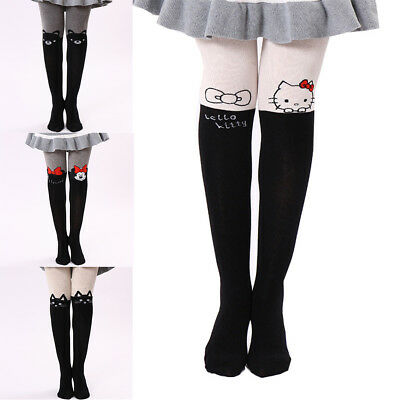 Cartoon Cute Children's Stockings Print Animal Cotton Children's Girls Knee High