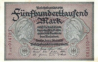Currency Selection, Germany 500000 Marks