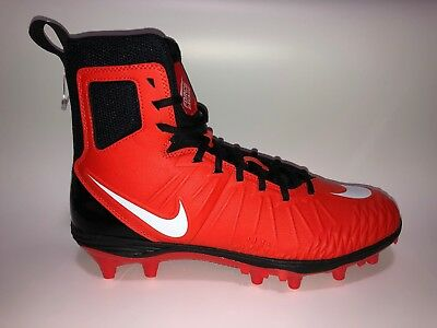 6d9a18fe276 New Nike Force Savage Varsity Mens High Top Football Cleats Size 10 Orange  Black