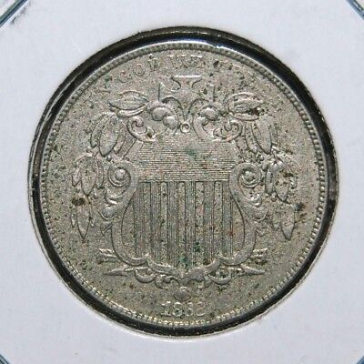 1868 Shield Nickel XF/AU Nice Extra Fine/About Uncirculated