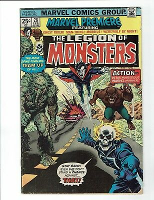 Marvel Premiere #28 1st Appearance Legion of Monsters 1976 Bronze Age