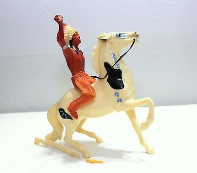Vintage Hartland Indian Chief Thunderbird And War Horse - Complete